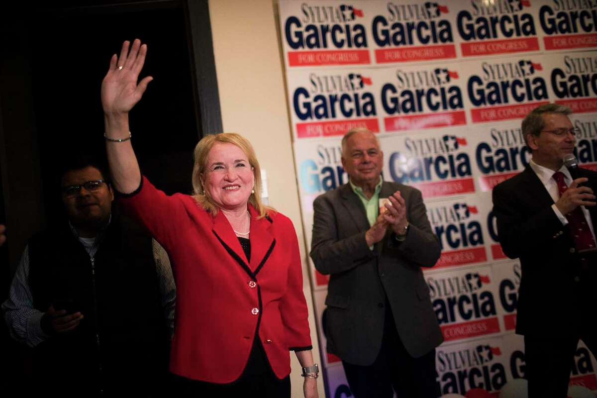 Sylvia Garcia, 67, who is running as a Democrat for U.S. Representative for District 29, arrives to her campaign headquarters, Tuesday, March 6, 2018, in Houston.