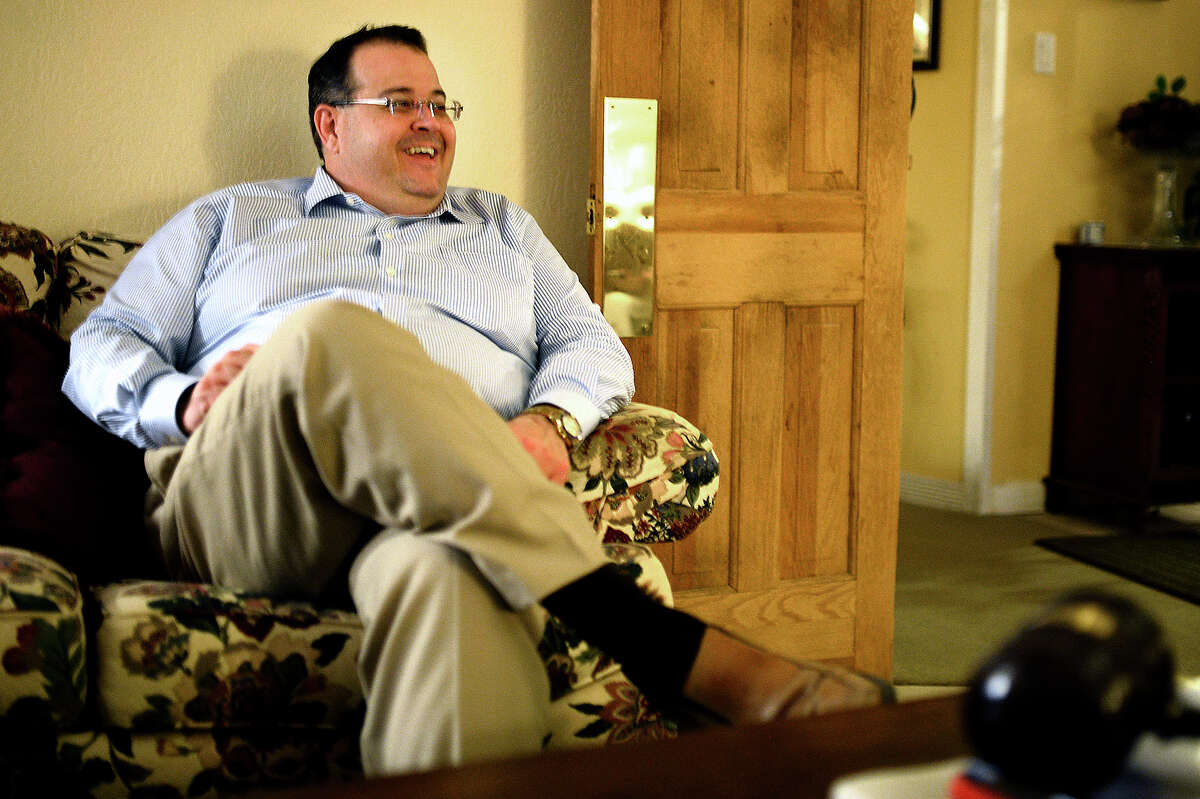County Judge candidate James Beauchamp stays updated on election results from his home in Midland, March 6, 2018. James Durbin/Reporter-Telegram