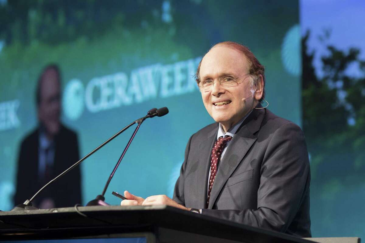 Dan Yergin, vice chairman of IHS Markit Ltd., smiles during the 2018 CERAWeek by IHS Markit conference in Houston, Texas, U.S., on Monday, March 5, 2018. CERAWeek gathers energy industry leaders, experts, government officials and policymakers, leaders from the technology, financial, and industrial communities to provide new insights and critically-important dialogue on energy markets. Photographer: F. Carter Smith/Bloomber
