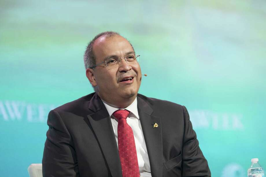 Carlos Trevino Medina, chief executive officer of Petroleos Mexicanos (Pemex), speaks on a panel during the 2018 CERAWeek by IHS Markit conference in Houston, Texas, U.S., on Tuesday, March 6, 2018. CERAWeek gathers energy industry leaders, experts, government officials and policymakers, leaders from the technology, financial, and industrial communities to provide new insights and critically-important dialogue on energy markets. Photographer: F. Carter Smith/Bloomberg Photo: F. Carter Smith, Bloomberg / © 2018 Bloomberg Finance LP