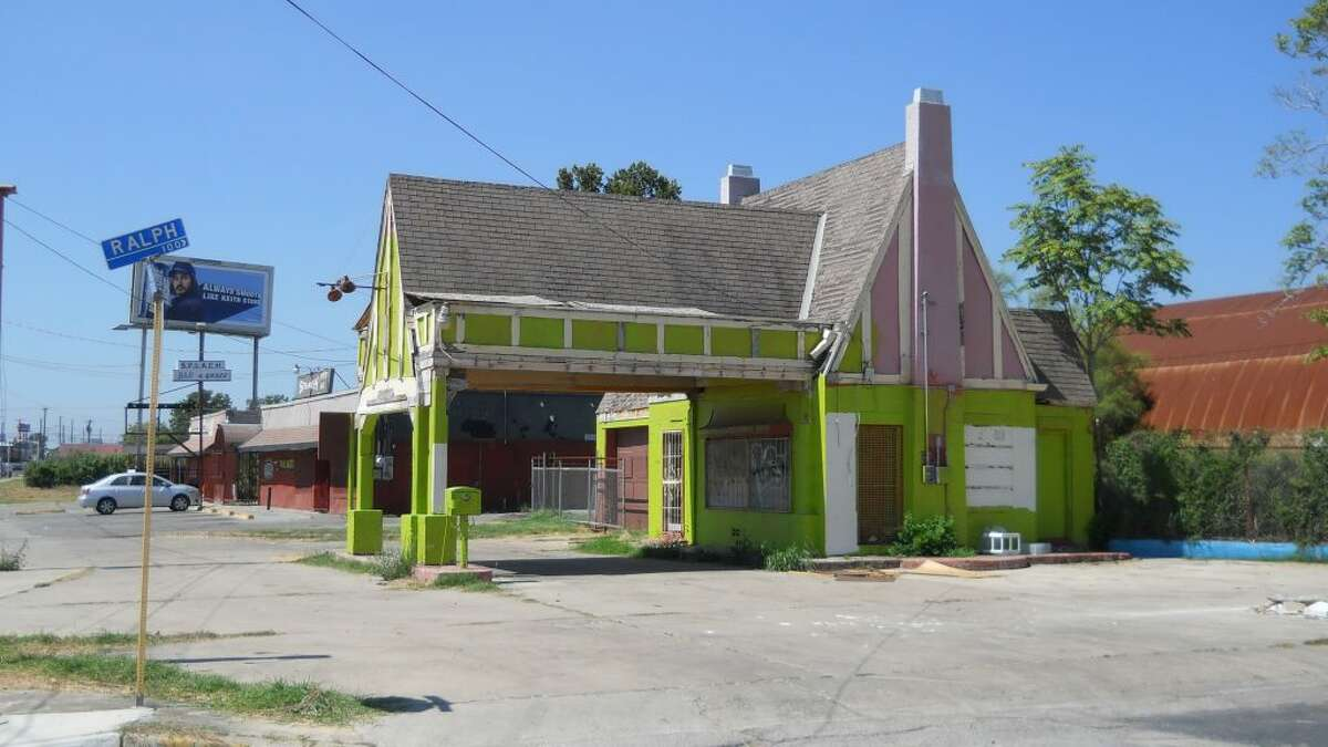 The gas station seen here in 2012.