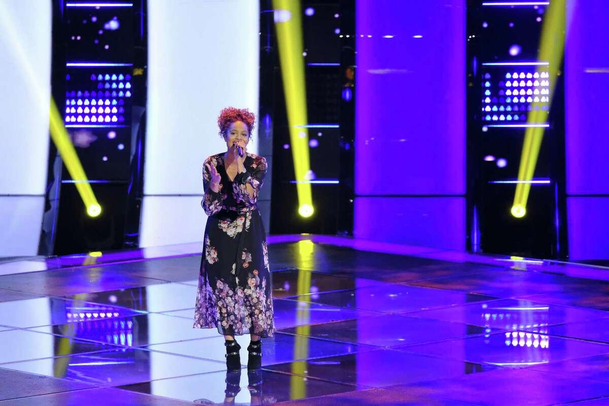"""Spensha Baker of San Antonio wowed the coaches with her sweet and soulful rendition of """"Blackbird"""" on NBC's hit competition show """"The Voice."""""""