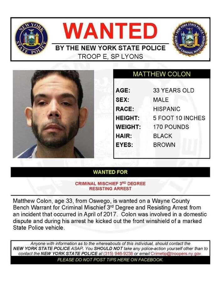 Matthew Colon Photo: New York State Police