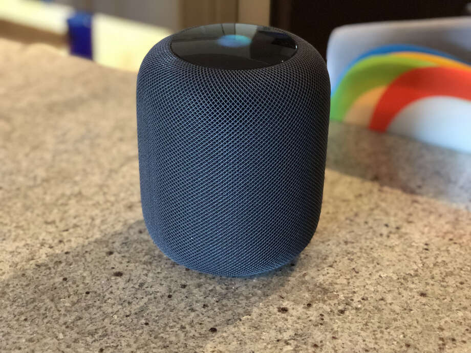 Apple's HomePod smart speaker is designed to integrate with Apple Music. Photo: Dwight Silverman, Houston Chronicle