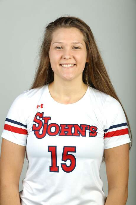 Kayley Wood, who was born in South Africa, visited her birth country for the first time during the holiday season. Photo: Courtesy St. John's Athletics