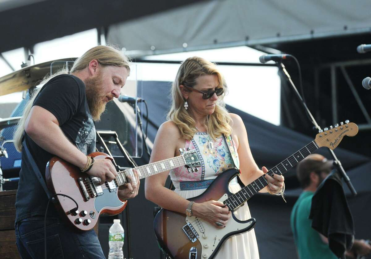 Tedeschi Trucks Band performs during the Greenwich Town Party at Roger Sherman Baldwin Park in Greenwich, Conn., Saturday, May 28, 2016.