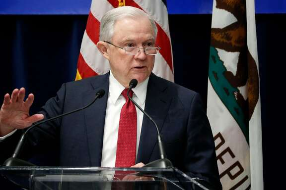 U.S. Attorney General Jeff Sessions delivers remarks to the California Peace Officer's Association at the Kimpton Sawyer Hotel in Sacramento, Calif., on Wed. Mar. 7, 2018.