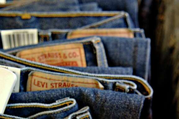 Levi Strauss jeans on display in a store in New York on July 11, 2006.