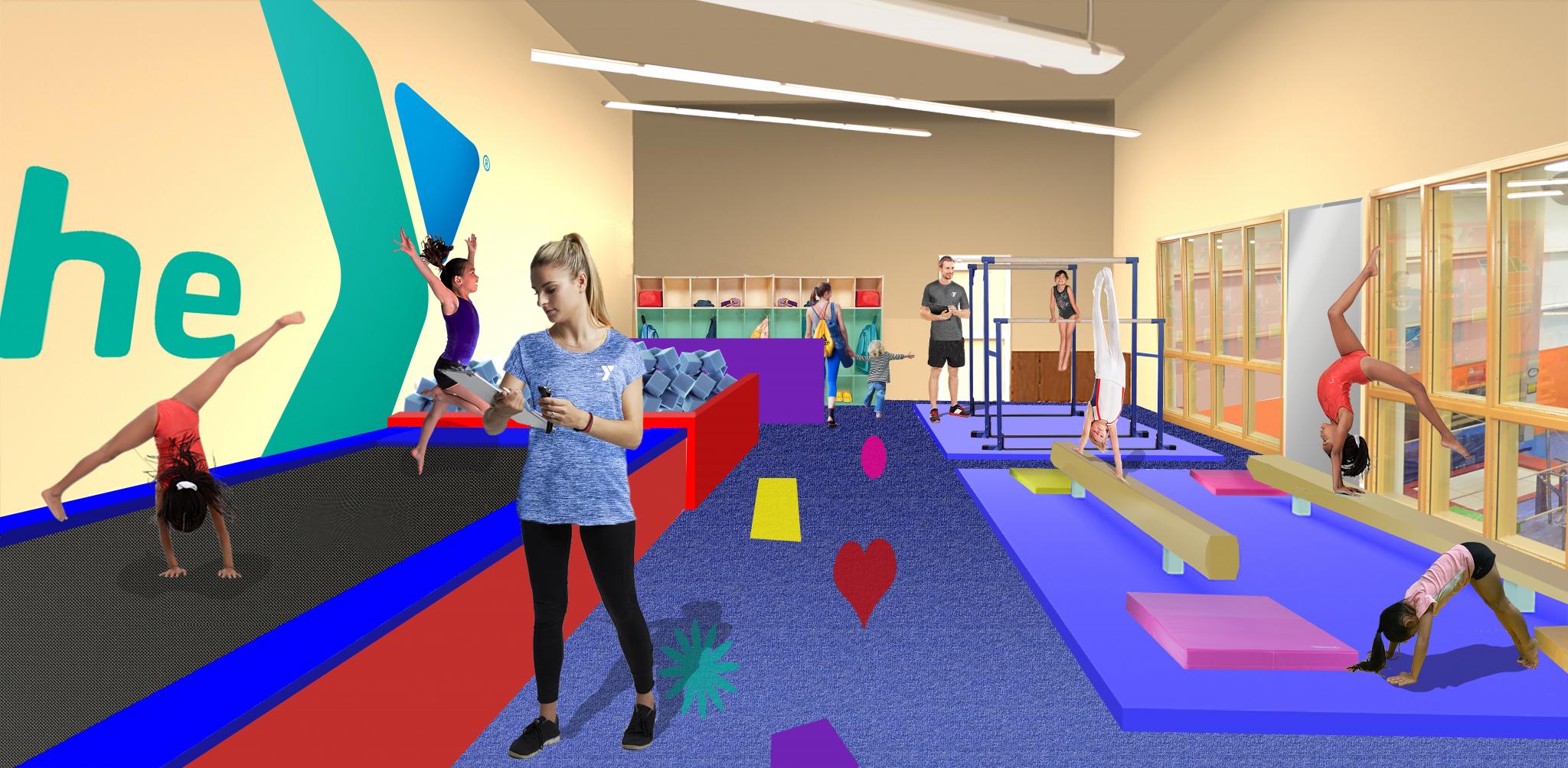 Ymca opening new preschool gymnastics gym the