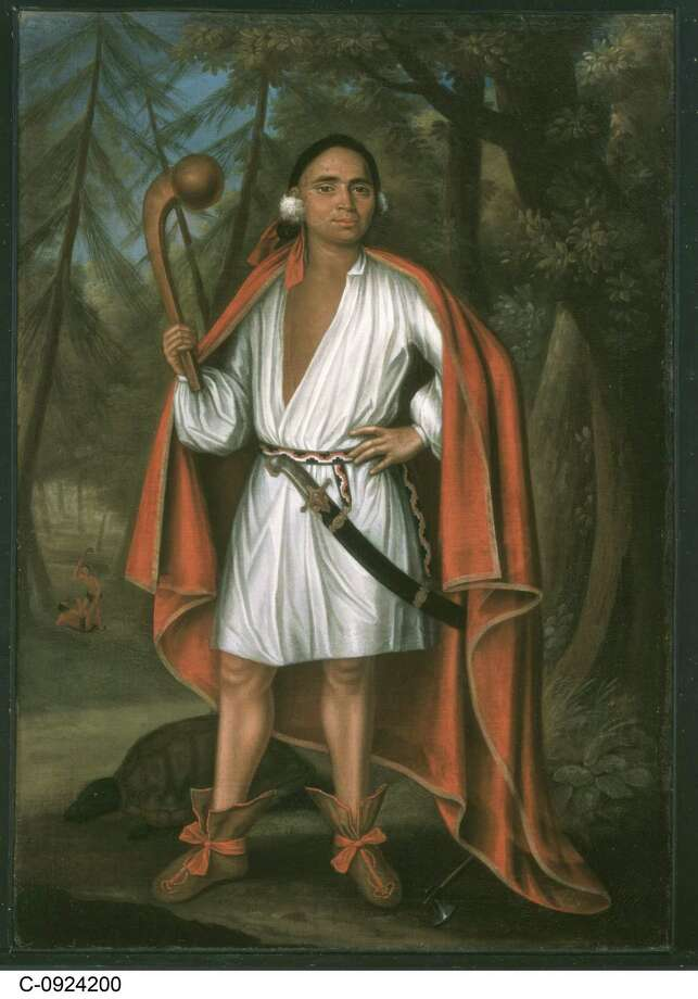 "Etow Oh Koam, the Mahican, who was taken in 1710 to London with three other Native American ""kings"" to meet Queen Anne. Photo: Duo Dickinson / Contributed Photo"