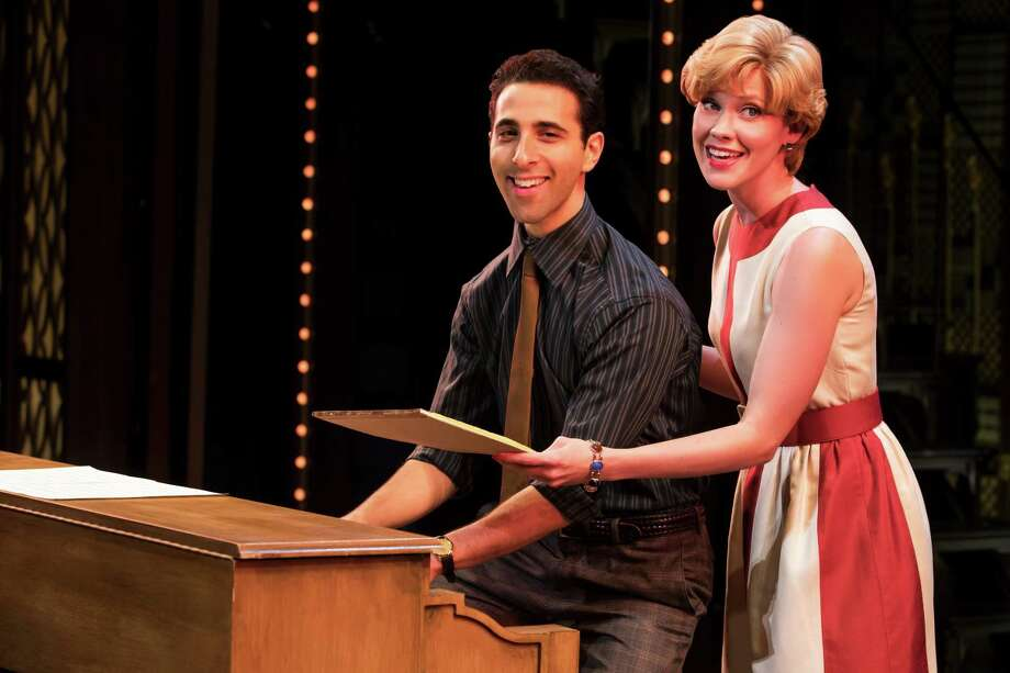Westport-raised Jacob Heimer and Sarah Goeke as Barry Mann and Cynthia Weill. Photo: Shubert Theatre / Tour Photo