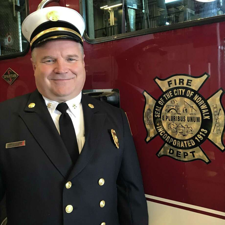 Veteran firefighter Chris King takes over as second of command of the citys nearly 150-member fire department. Photo: Contributed Photo / Christopher King