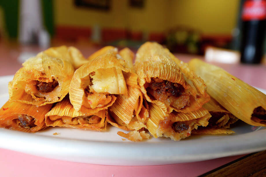 Shredded pork tamales at Juan's Mexican Food in Lumberton. The restaurant is located on Main Street next to the water tower.  Photo taken Friday 3/2/18 Ryan Pelham/The Enterprise Photo: Ryan Pelham / ©2017 The Beaumont Enterprise/Ryan Pelham