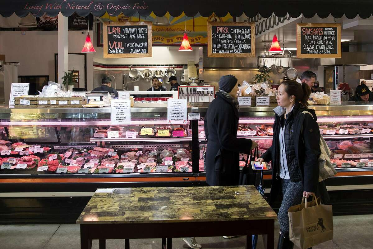 Golden Gate Meat Company seen inside the Ferry Building Saturday, March 3, 2018 in San Francisco, Calif.