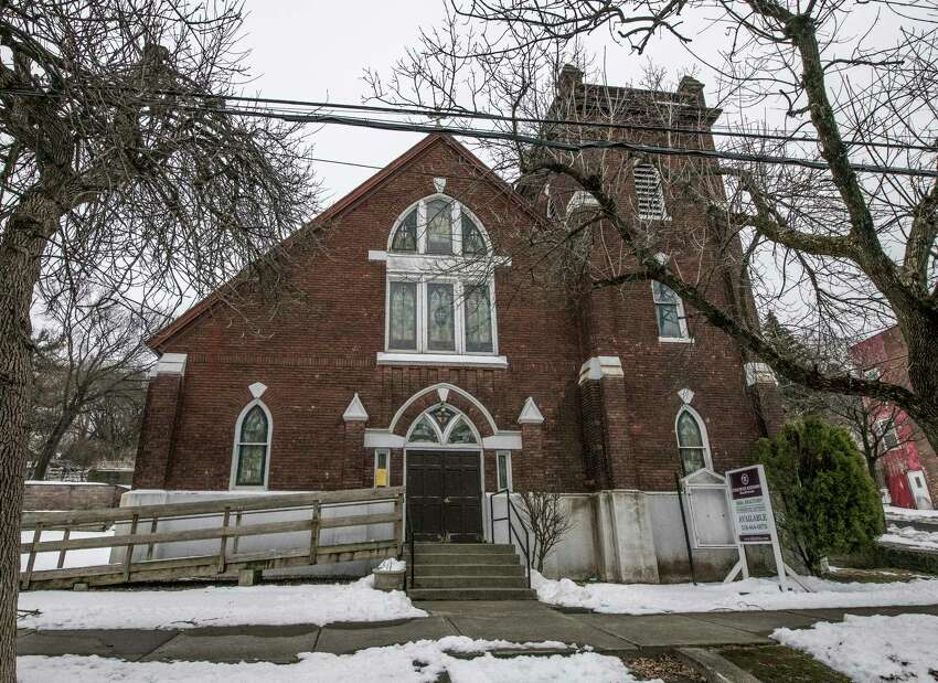 Exterior view of the former Armenian Calvary Congregational Church at 144 9th Street on Monday, March 5, 2018, in Troy, N.Y. (Skip Dickstein/Times Union)