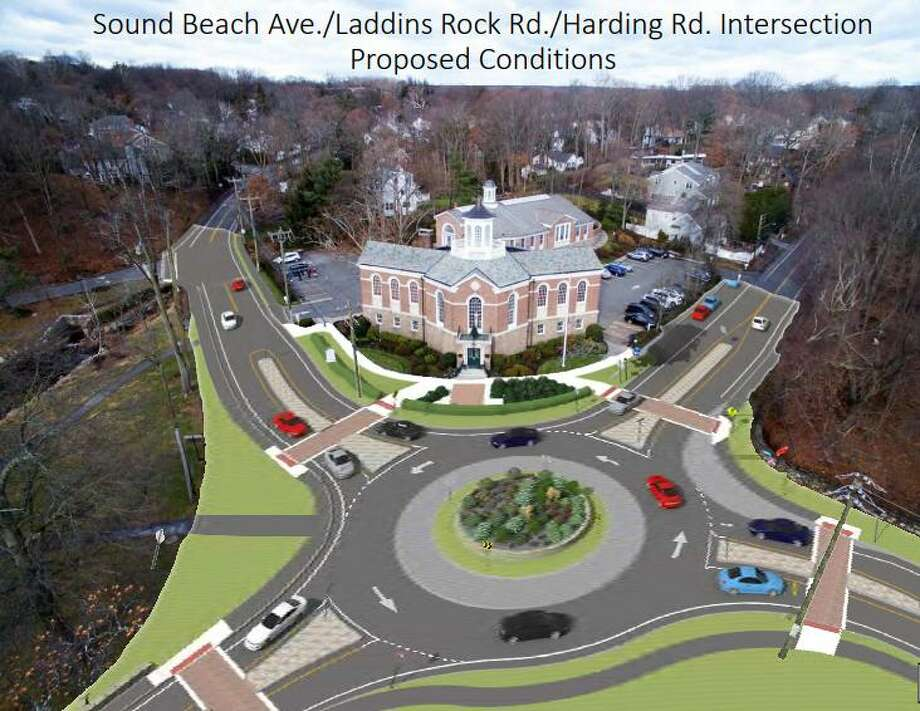 Rendering of the proposed improvement to the Sound Beach Avenue intersection. Photo: Contributed Photo / Contributed / Greenwich Time Contributed