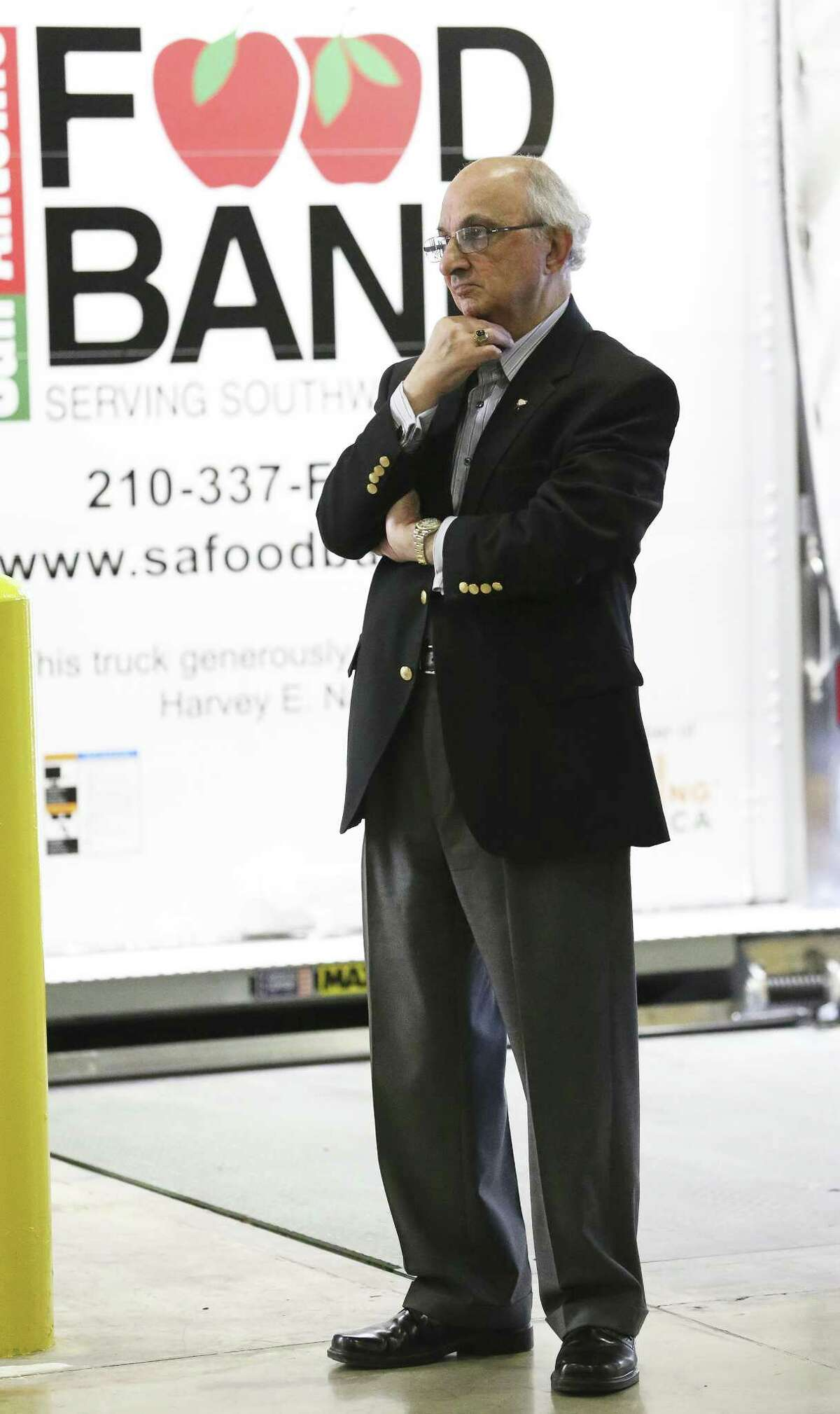 The San Antonio Food Bank receives a $1.3 million donation from philanthropist Harvey E. Najim and the Najim Family Foundation on March 7, 2018, which was used to buy 10 new delivery trucks.