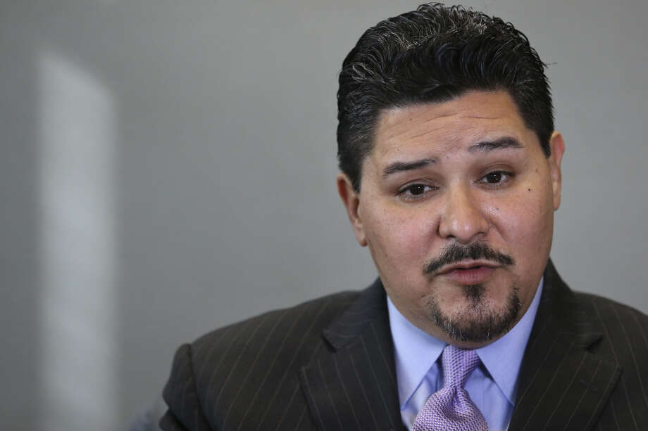 Houston ISD Superintendent Richard Carranza talks about his departure for the New York City schools chancellor position during an interview on Wednesday, March 7, 2018, in Houston. Carranza has been working as the HISD superintendent for 18 months. (Yi-Chin Lee / Houston Chronicle)