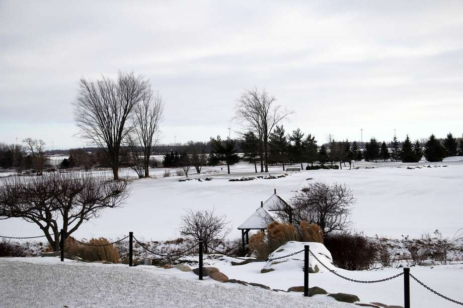 Wednesday's snowfall made for a serene scene at Bird Creek Golf Club, though it may have come as an unwelcome addition to the month of March. Photo: Seth Stapleton/Huron Daily Tribune