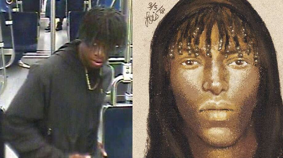 The person believed to have shot and killed a man in Houston's Near Northside in late February hopped on a METRORail train to get away from the crime scene, officials said. Anyone with information about the suspect is urged to call Houston Crime Stoppers at 713-222-TIPS (8477). The organization is offering a reward up to $5,000. Photo: Houston Crime Stoppers