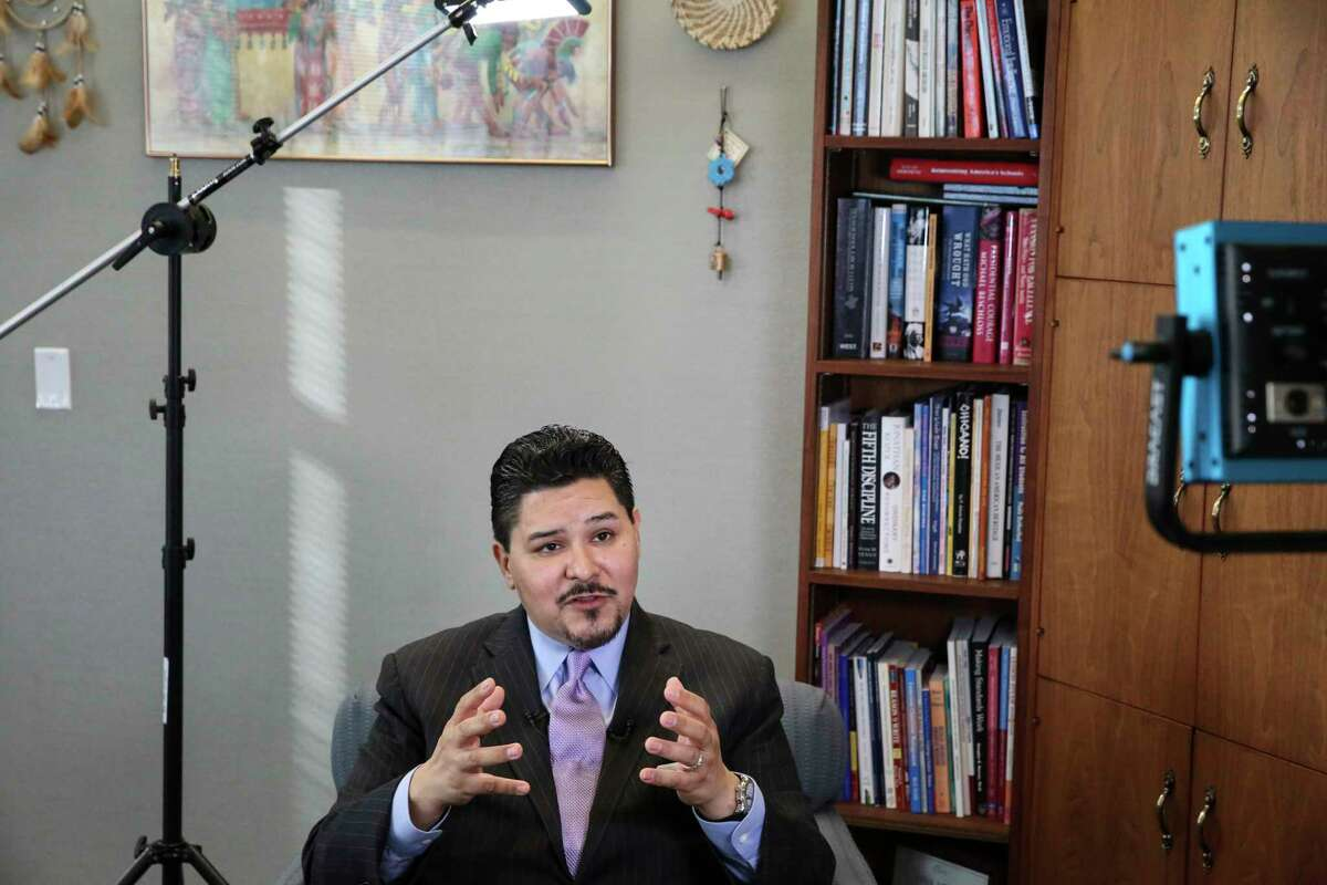 Houston ISD Superintendent Richard Carranza talks about his departure for New York City during an interview with Houston Chronicle and KHOU on Wednesday, March 7, 2018, in Houston.