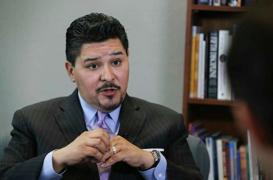 Houston ISD Superintendent Richard Carranza talks about his departure for the New York City Schools Chancellor position during an interview on Wednesday, March 7, 2018, in Houston. Carranza has been working as the HISD superintendent for 18 months. Photo: Yi-Chin Lee, Houston Chronicle / © 2018 Houston Chronicle