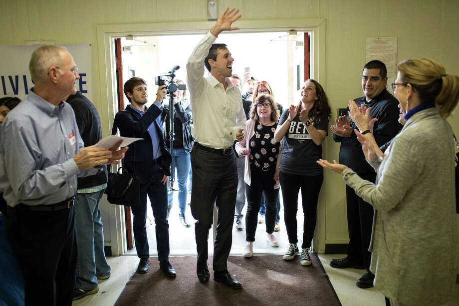 Democrat Beto O'Rourke of El Paso arrives a campaign event in Lufkin on Feb. 9. O'Rourke wpon the Democratic nomination Tuesday. s running to unseat Sen. Ted Cruz (R-Texas) in the 2018 midterm elections. (Tamir Kalifa/The New York Times) Photo: Tamir Kalifa /New York Times / NYTNS