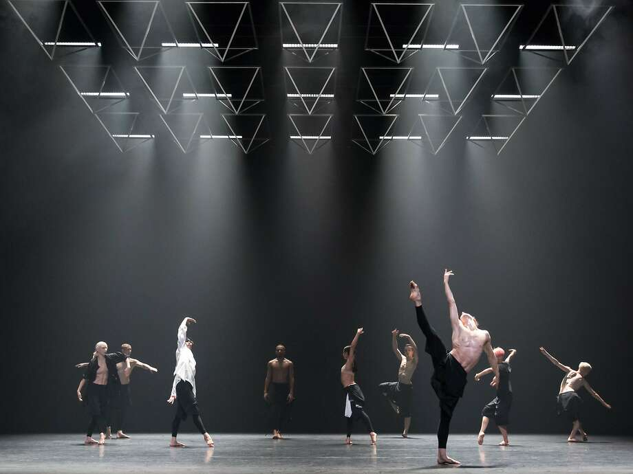 "Wayne McGregor's company performs ""Autobiography,"" based on his own genome, at Yerba Buena Center fo the Arts in San Francisco. Photo: Andres Uspenski"