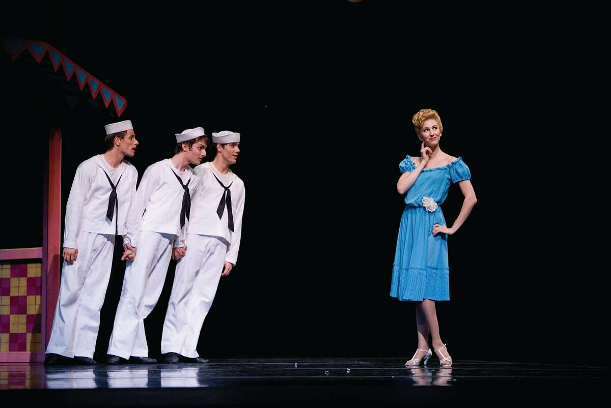 Jerome Robbins� 1944 �Fancy Free� anchors S.F. Ballet�s tribute program. Photo: Erik Tomasson