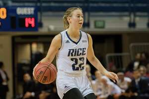 Rice basketball player Nicole Iademarco, a 2014 graduate of The Woodlands High School.