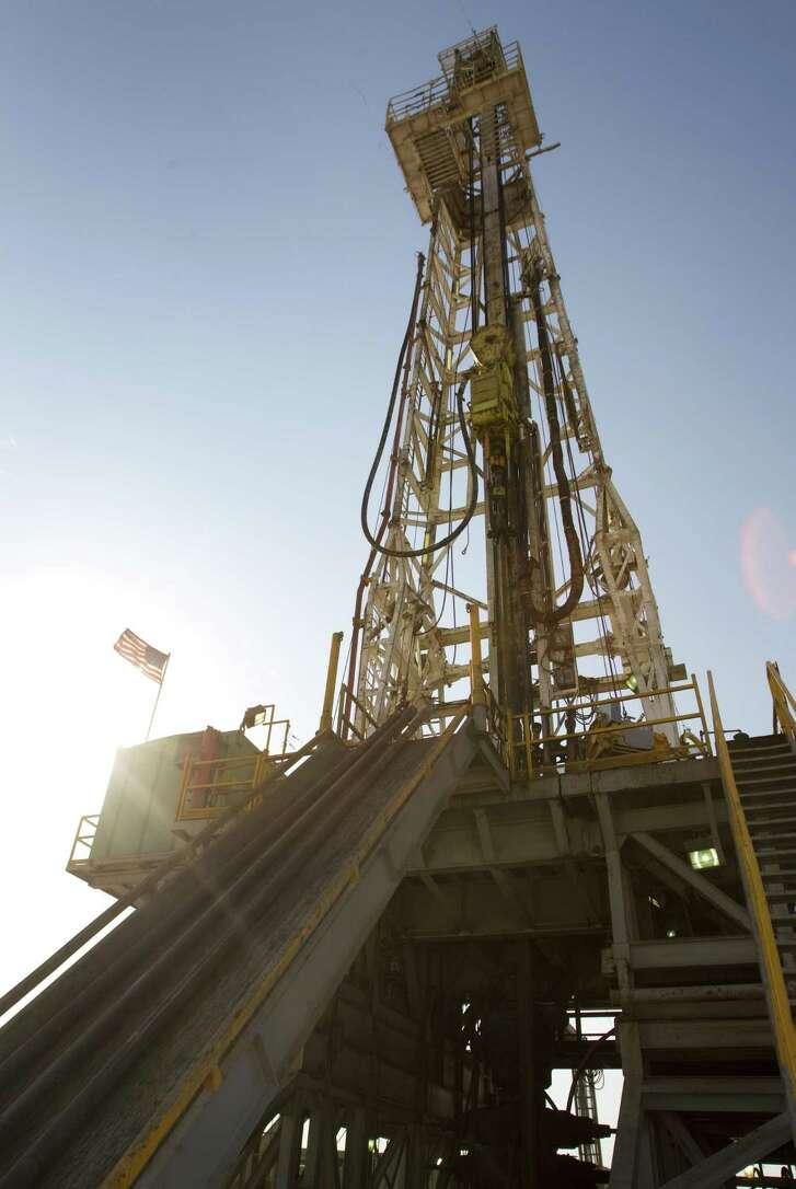 An oil rig on Anadarko's acreage in the Permian Basin.