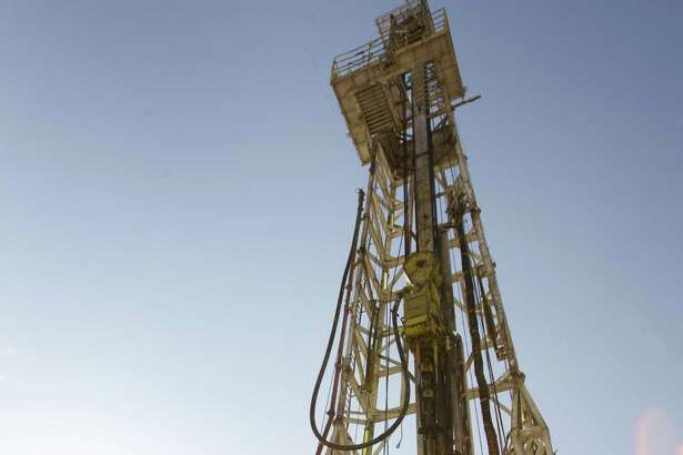 An oil rig running on Anadarko's Raybank Well near the west Texas town of Mentone, about 90 miles west of Midland.