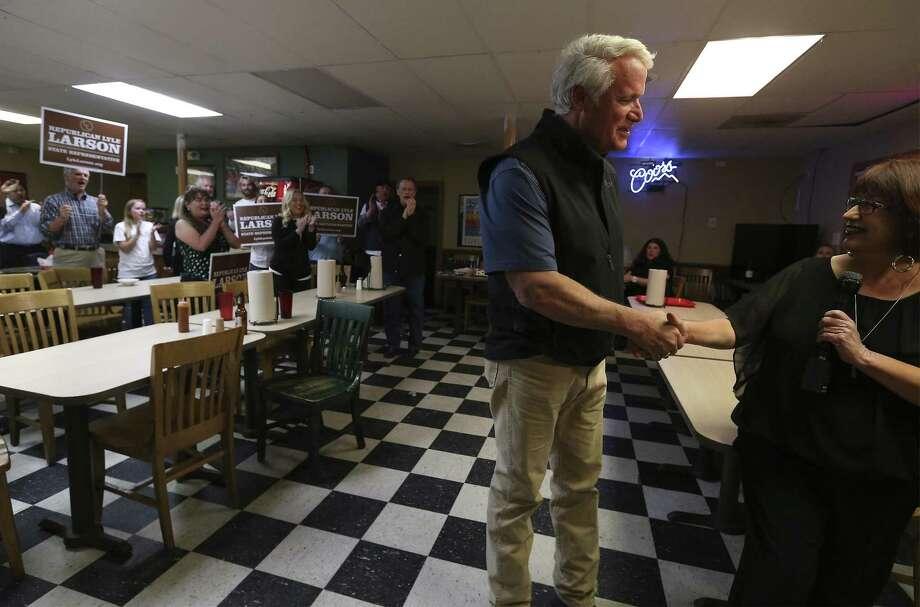 State Rep. Lyle Larson beat Gov. Abbott-backed Hollywood Park Mayor Chris Fails on Tuesday. Photo: Kin Man Hui / San Antonio Express-News / ©2018 San Antonio Express-News