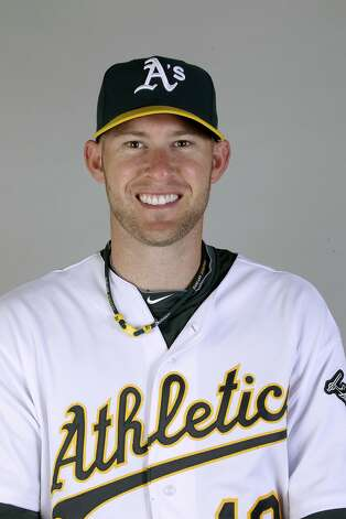 This is a 2011 photo of Daric Barton of the Oakland Athletics baseball team. This image reflects the Oakland Athletics active roster as of Thursday, Feb. 24, 2011 when this image was taken. (AP Photo/Marcio Jose Sanchez) Photo: Marcio Jose Sanchez, AP