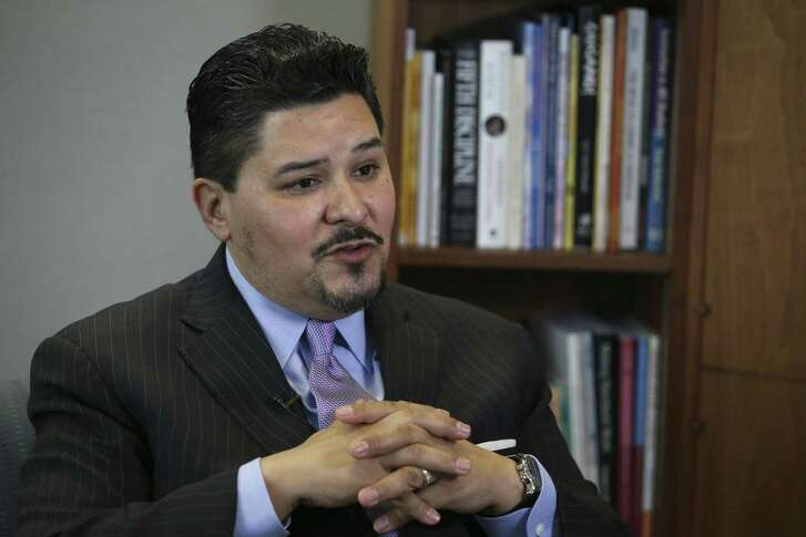 Houston ISD Superintendent Richard Carranza talks about his departure for the New York City Schools Chancellor position during an interview on Wednesday, March 7, 2018, in Houston. Carranza has been working as the HISD superintendent for 18 months.
