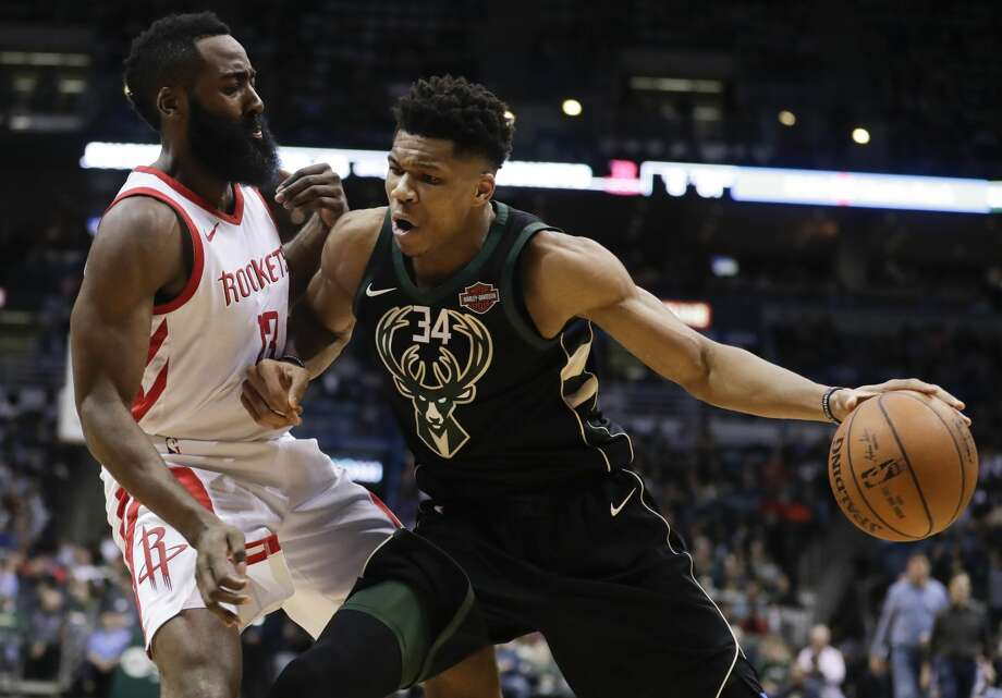 PHOTOS: The best Internet reactions to James Harden's comments about the NBA's reigning MVP The Rockets' James Harden didn't think Giannis Antetokounmpo's jokes at the NBA All-Star Game draft was funny, and he fired back about it on ESPN on Friday. Browse through the photos above for a look at some of the Internet's funniest reactions to James Harden firing back at Giannis Antetokounmpo ... Photo: Morry Gash/Associated Press