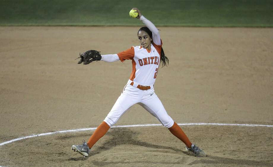 United pitcher Kelly Salinas (6-3, 2.07 ERA) threw five scoreless innings with three strikeouts in a 12-0 blowout win Wednesday night over United South at the SAC. Photo: Laredo Morning Times Staff File / Laredo Morning Times