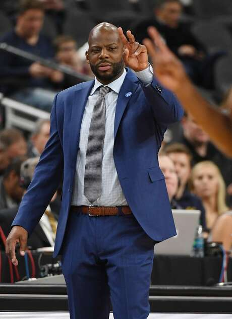 LAS VEGAS, NV - MARCH 07:  Head coach Wyking Jones of the California Golden Bears signals his players during a first-round game of the Pac-12 basketball tournament against the Stanford Cardinal at T-Mobile Arena on March 7, 2018 in Las Vegas, Nevada. The Cardinal won 76-58.  (Photo by Ethan Miller/Getty Images) Photo: Ethan Miller, Getty Images