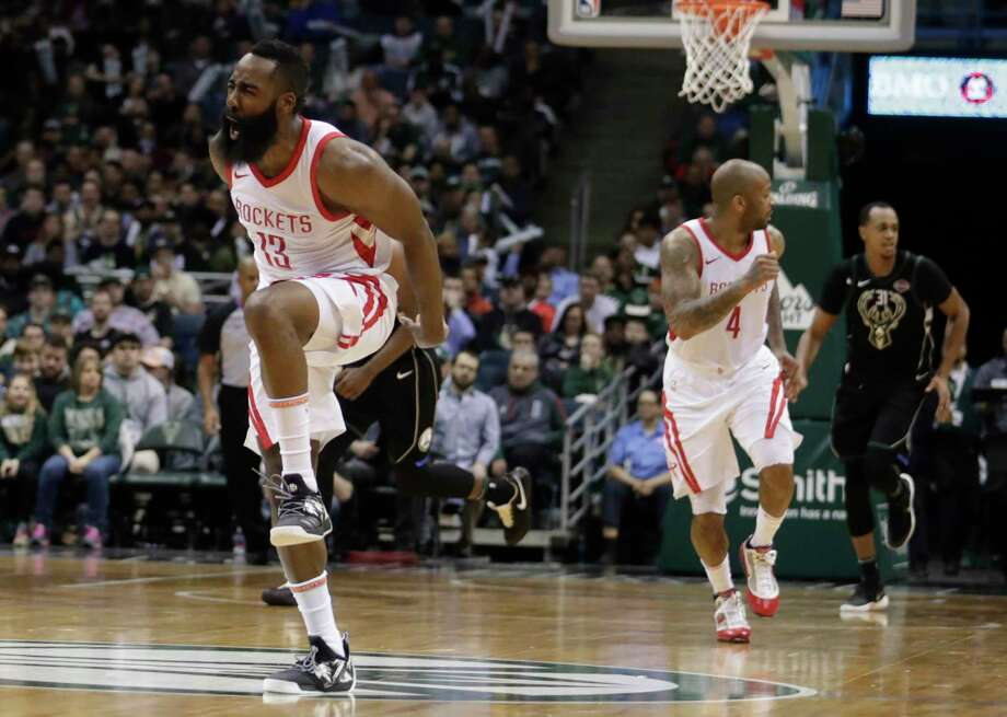 Despite the visit to Milwaukee being the second part of a back-to-back, James Harden has a burst of energy Wednesday. Harden's most impressive stretch in his 26-point night was a run of 11 points in the final 21/2 minutes of the first half. Photo: Morry Gash, STF / Copyright 2018 The Associated Press. All rights reserved.