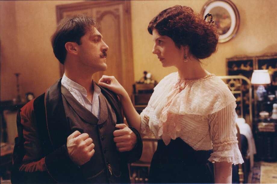 """Marcel Proust (Marcello Mazzarella) and Albertine (Chiara Mastroianni) in Raoul Ruiz's """"Time Regained."""" Photo: Kino International 1999"""