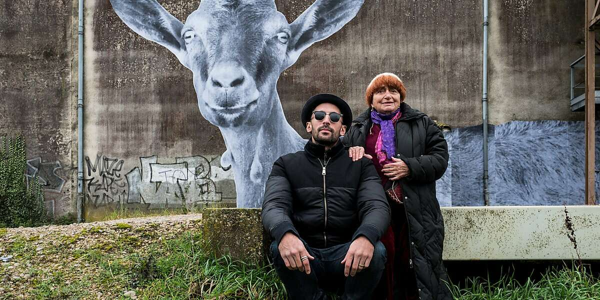 """Agnes Varda and JR in 'Faces Places"""""""