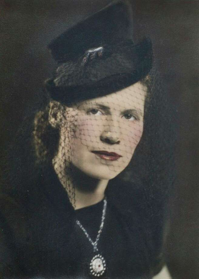 Alton Prince took this photo of his wife, Virginia Meredith, after they were married. Alton and a friend made a movie 'D-Day Beachhead to Berlin' while he was in the Coast Guard in World War II.
