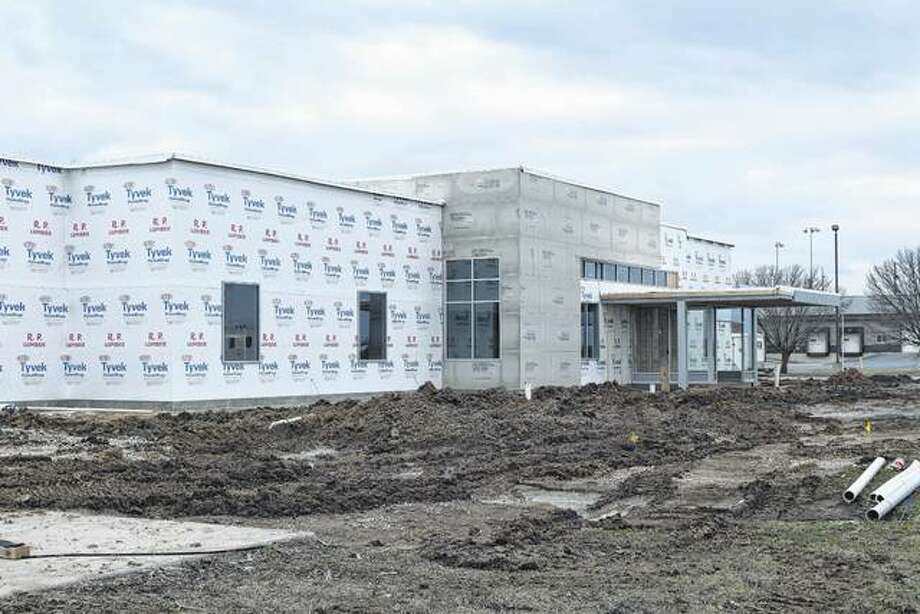 Progress continues at the new HSHS Medical Group at 1745 W. Walnut St. Photo: Nick Draper | Journal-Courier