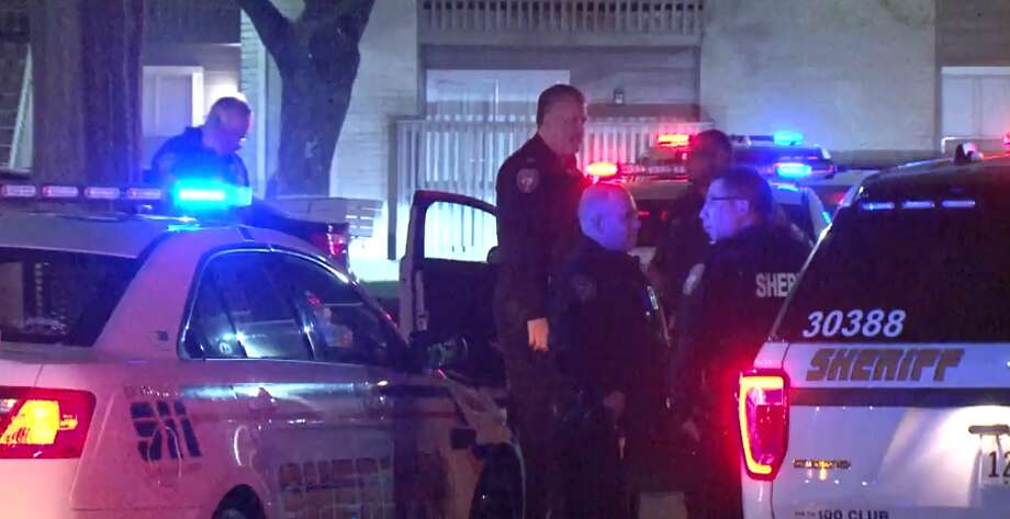 One man was taken to the hospital after he was shot in a northwest Houston apartment building, Wednesday March 7, 2018. Photo: Metro Video