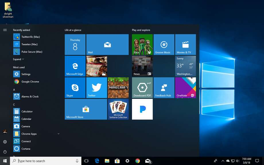 """Every version of Windows 10 will soon get a streamlined """"S"""" mode. Photo: Chronicle Screenshot, Microsoft"""