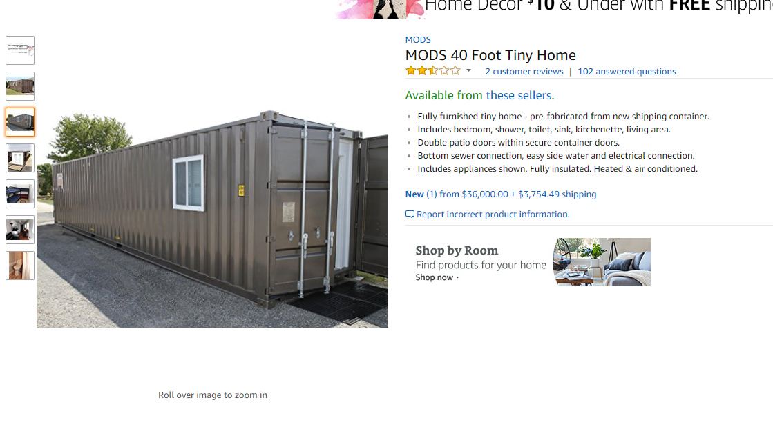 You can now buy a 'tiny house' on Amazon, get it delivered