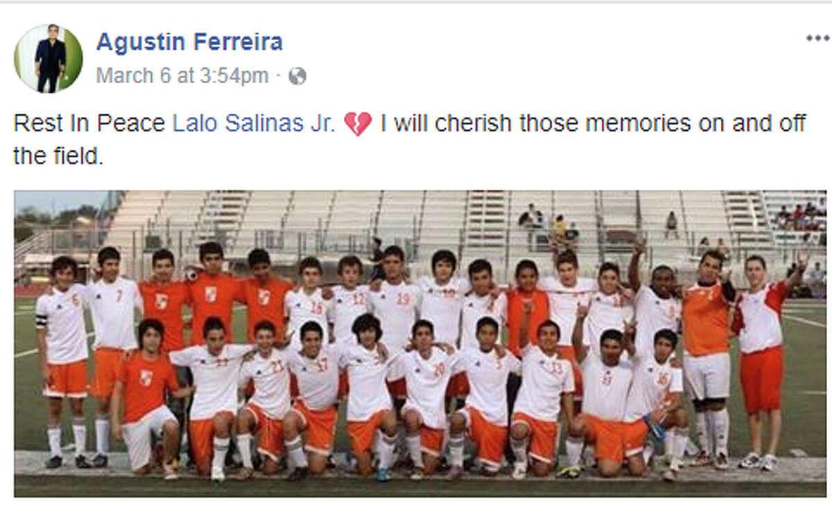 "Agustin Ferreira: ""Rest In Peace Lalo Salinas Jr."