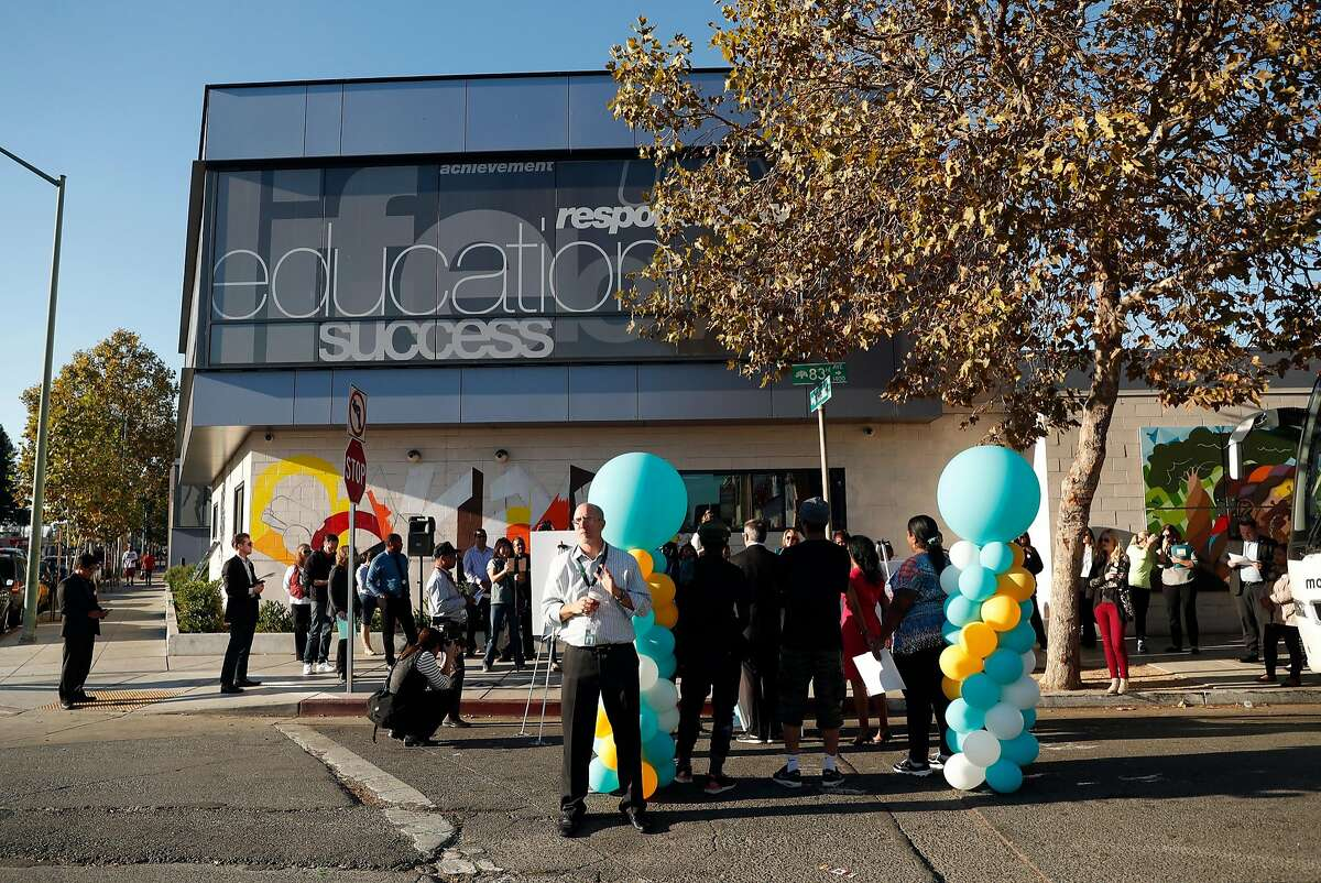 Covered California unveils a mural on the East Oakland Youth Development Center in Oakland, Calif., on Tuesday, November 7, 2017.