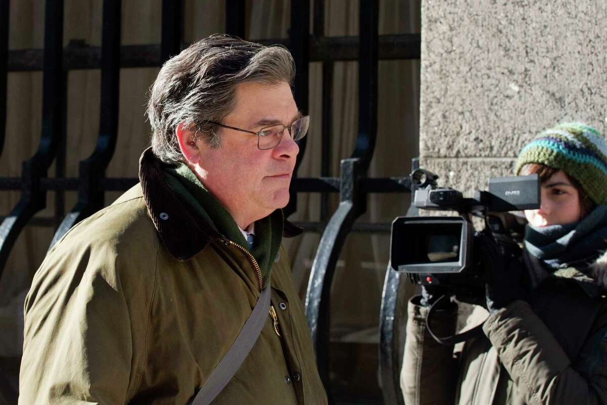 Peter Galbraith Kelly Jr., a former executive with Competitive Power Ventures Holdings, arrives for his corruption trial, Thursday, March 8, 2018, in New York. Jurors had announced on Tuesday that they were deadlocked but the judge asked them to return to deliberate in the trial of four businessmen.