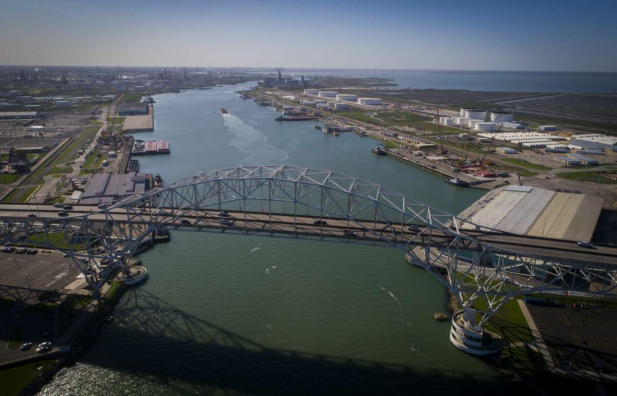 The Harbor Bridge crosses over the Port of Corpus Christi, Thursday, March 8, 2018, in Corpus Christi.